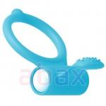 Ereksiyon ve Orgazm İçin Penis Yüzüğü Love Ring Blue